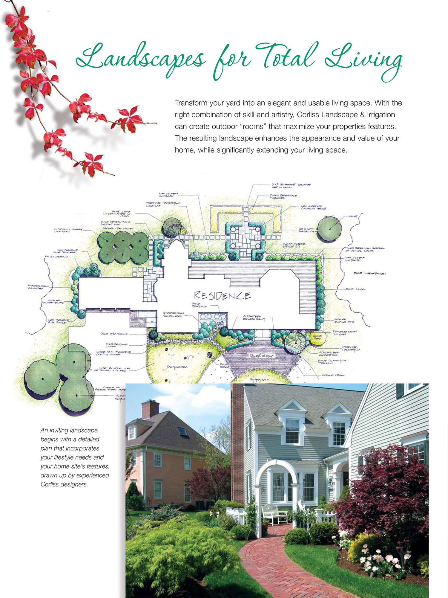 Landscape Design Company Corliss Landscaping Lawn Care - Home irrigation design